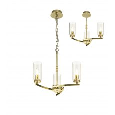 Domecelle Gold 3 Light Pendant Ceiling Light