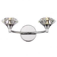 Kendal Double chrome wall light