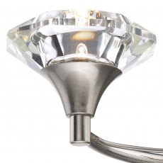 Kendal Double satin chrome wall light