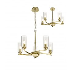 Domecelle Gold 5 Light Pendant Ceiling Light