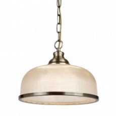 Hendon II 1L antique brass pendant