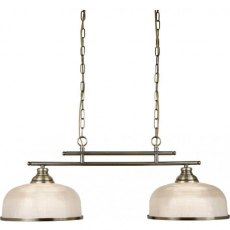 Hendon II Bar 2L antique brass pendant