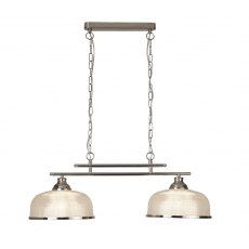 Hendon II Bar 2L satin silver pendant