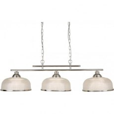 Hendon II Bar 3L satin silver pendant