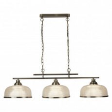 Hendon II Bar 3L  antique brass pendant