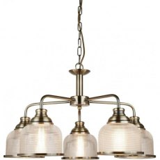 Hendon II 5L antique brass pendant