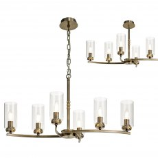 Domecelle Antique Brass 6 Light Pendant Ceiling Light