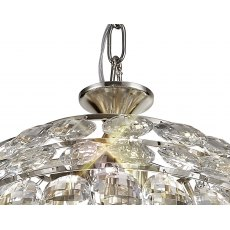Coto chrome crystal small pendant light