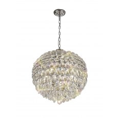 Coto chrome crystal large pendant light