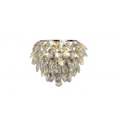 Coto chrome crystal wall light