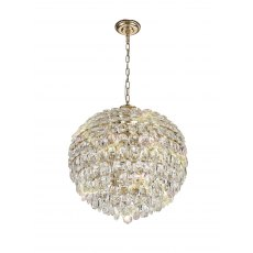 Coto french gold crystal large pendant light