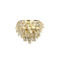 Coto french gold crystal wall light