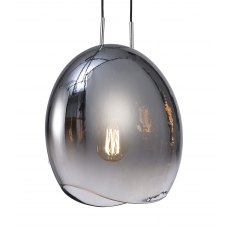 Chrome Lens medium pendant light
