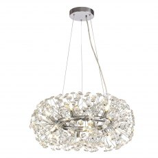 Barcelona 12 crystal chrome pendant