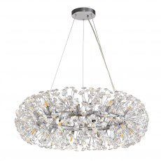 Barcelona 20 crystal chrome pendant