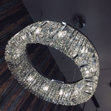 Zahara 12 chrome statement crystal pendant