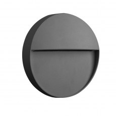 Barker Coastal Disc anthracite wall light