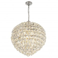 Coto chrome crystal XL pendant light