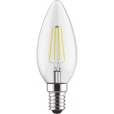 E14 LED Candle 4w 470lm 2700k dimmable clear lamp