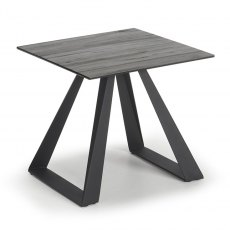 Athens grey wood ceramic lamp table