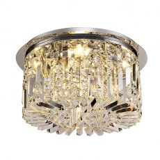 Zahara 5 chrome crystal flush light