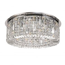 Zahara 8 chrome crystal flush light