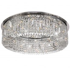 Zahara 12 chrome crystal flush light