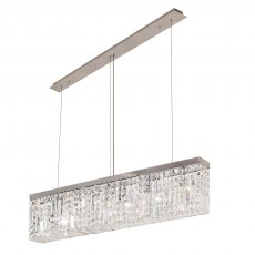 Zahara 5 chrome crystal bar pendant
