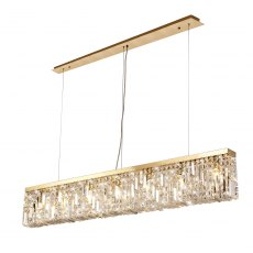 Zahara 7 french gold crystal bar pendant
