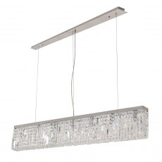 Zahara 7 chrome crystal bar pendant