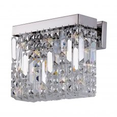 Zahara 2 chrome crystal wall light