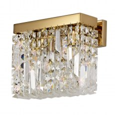 Zahara 2 gold crystal wall light