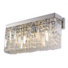 Zahara 3 chrome crystal wall light