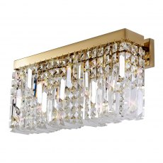 Zahara 3 gold crystal wall light