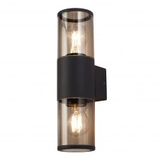 Malvern coastal smoked twin wall light