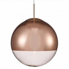 Globe 30 copper pendant