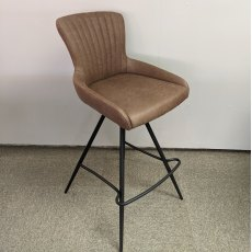 Malpas brown faux leather swivel barstool