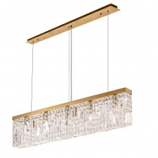 Zahara 5 french gold crystal bar pendant