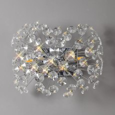 Barcelona 4 chrome crystal wall light