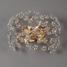 Barcelona 4 french gold crystal wall light