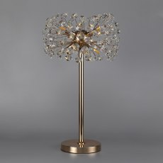 Barcelona 6 french gold crystal table lamp