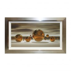 Golden sphere liquid art (122 x 72cm)