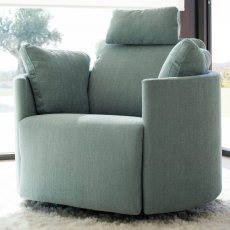 Fama Moonrise Fabric Recliner Armchair
