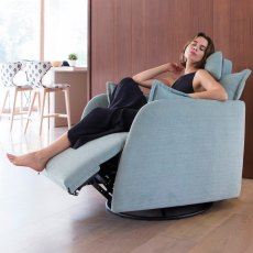 Fama Nadia Fabric Power Recliner Armchair