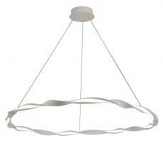 Melilla Large White Twist Pendant Light