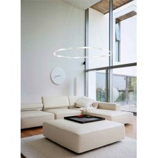 Melilla Medium White Twist Pendant Light
