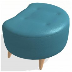 Fama Astoria leather Footstool PUFT
