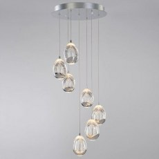 Modica 7L chrome cluster pendant