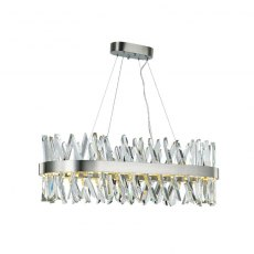 Asti Oval Sat-Nickel Pendant