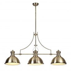 Ludeiros Antique Brass 3 Light Pendant